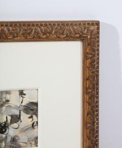 Niels Michaelsen Painting in Carved Frame - 1454869