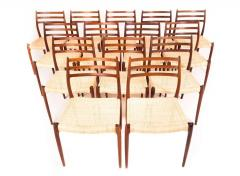 Niels Otto M Ller N O M Ller Set Of 14 Rosewood Dining Chairs Model 78    288639
