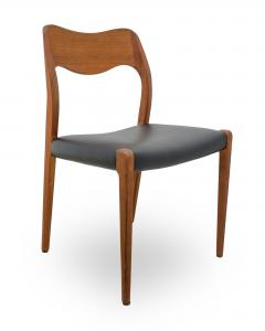 Niels Otto M Ller Set Of 6 Niels Moller Model 71 Teak Dining Chairs   187161