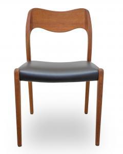 Niels Otto M Ller Set Of 6 Niels Moller Model 71 Teak Dining Chairs   187162