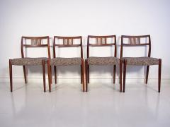 Niels Otto M ller Set of Four Hardwood Model 79 Chairs by Niels Otto Moller - 1228916