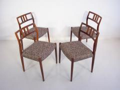Niels Otto M ller Set of Four Hardwood Model 79 Chairs by Niels Otto Moller - 1228918