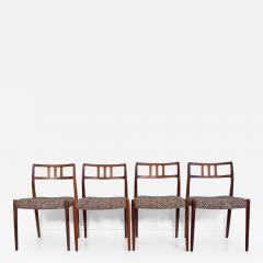 Niels Otto M ller Set of Four Hardwood Model 79 Chairs by Niels Otto Moller - 1229653
