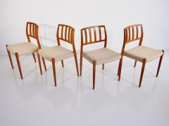 Niels Otto M ller Set of Four Model 83 Niels Otto M ller Teak Chairs - 1263285