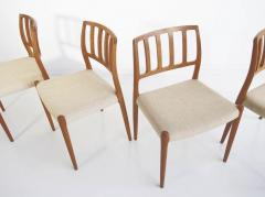 Niels Otto M ller Set of Four Model 83 Niels Otto M ller Teak Chairs - 1263288