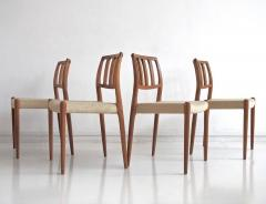 Niels Otto M ller Set of Four Model 83 Niels Otto M ller Teak Chairs - 1263289