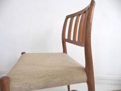 Niels Otto M ller Set of Four Model 83 Niels Otto M ller Teak Chairs - 1263292