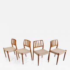 Niels Otto M ller Set of Four Model 83 Niels Otto M ller Teak Chairs - 1263727
