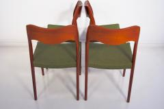 Niels Otto M ller Set of Four Niels O Moller Solid Teak Chairs Model 71 - 1227836