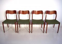 Niels Otto M ller Set of Four Niels O Moller Solid Teak Chairs Model 71 - 1227837