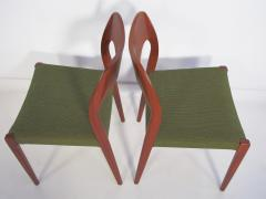 Niels Otto M ller Set of Four Niels O Moller Solid Teak Chairs Model 71 - 1227841