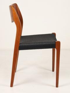 Niels Otto M ller Set of Six Scandinavian Modern Teak Cord Dining Chairs by Niels Moller - 2008030