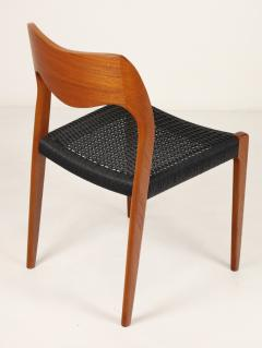 Niels Otto M ller Set of Six Scandinavian Modern Teak Cord Dining Chairs by Niels Moller - 2008031