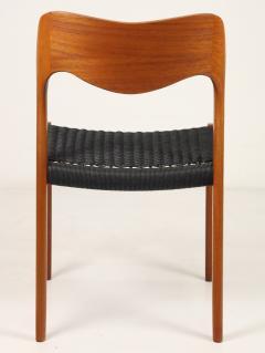 Niels Otto M ller Set of Six Scandinavian Modern Teak Cord Dining Chairs by Niels Moller - 2008032