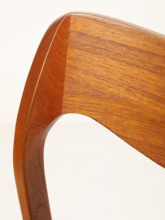 Niels Otto M ller Set of Six Scandinavian Modern Teak Cord Dining Chairs by Niels Moller - 2008034