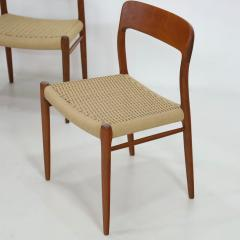 Niels Otto M ller Set of Six Teak Scandinavian Modern Dining Chairs by Niels Moller - 2132554