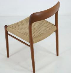 Niels Otto M ller Set of Six Teak Scandinavian Modern Dining Chairs by Niels Moller - 2132555