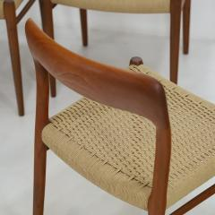 Niels Otto M ller Set of Six Teak Scandinavian Modern Dining Chairs by Niels Moller - 2132556