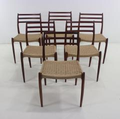 Niels Otto M ller Six Scandinavian Modern Dining Chairs Designed by Niels Moller - 983194