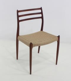 Niels Otto M ller Six Scandinavian Modern Dining Chairs Designed by Niels Moller - 983196