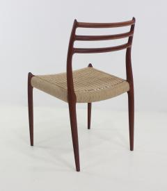 Niels Otto M ller Six Scandinavian Modern Dining Chairs Designed by Niels Moller - 983202