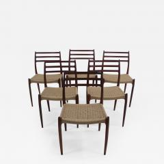 Niels Otto M ller Six Scandinavian Modern Dining Chairs Designed by Niels Moller - 984736