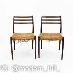 Niels Otto Moller Mid Century Danish Rosewood Dining Chairs Pair - 1869976