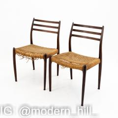 Niels Otto Moller Mid Century Danish Rosewood Dining Chairs Pair - 1869977