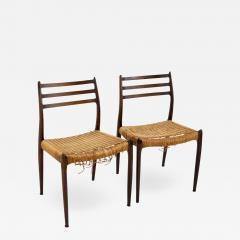 Niels Otto Moller Mid Century Danish Rosewood Dining Chairs Pair - 1877901