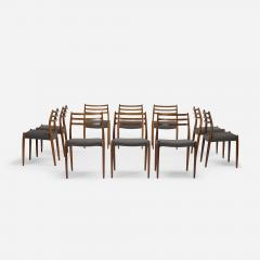 Niels Otto Moller Niels O M ller dining chairs set of ten - 723078