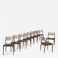 Niels Otto Moller Niels O M ller dining chairs set of ten - 723587