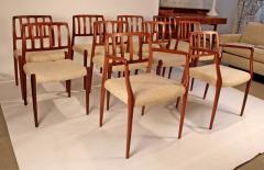 Niels Otto Moller Set of 10 Dining Chairs in East Indian Rosewood by Niels Otto Moller - 699451