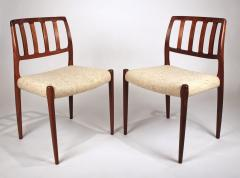 Niels Otto Moller Set of 10 Dining Chairs in East Indian Rosewood by Niels Otto Moller - 699457