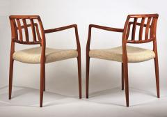 Niels Otto Moller Set of 10 Dining Chairs in East Indian Rosewood by Niels Otto Moller - 699458