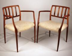 Niels Otto Moller Set of 10 Dining Chairs in East Indian Rosewood by Niels Otto Moller - 699460