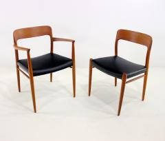 Niels Otto Moller Set of Eight Danish Modern Teak Dining Chairs Designed by Niels Moller - 629592