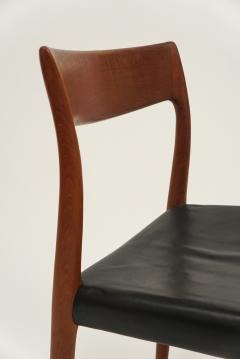 Niels Otto Moller Six Niels Moller Teak Dining Chairs Model 77 - 608053