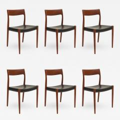 Niels Otto Moller Six Niels Moller Teak Dining Chairs Model 77 - 664544