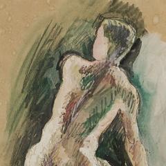 Niels William Scharff William Scharff Painting Nude back turned man Modernist painting Danish art - 930665