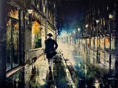 Night Walking Painting by Gleb Golubetski - 2135362