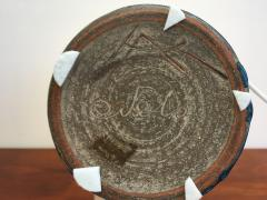 Nils Kahler Danish Stoneware Table Lamp with Turquoise Glazing by Nils K hler - 755796