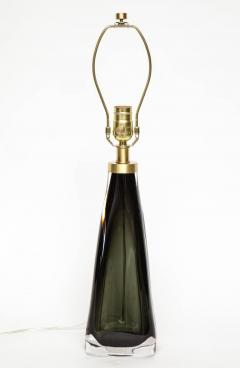 Nils Landberg Nils Landberg Orrefors Dark Bottle Green Lamps - 1061534