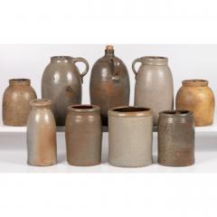 Nine Stoneware Bottles Jugs and Jars - 1936391