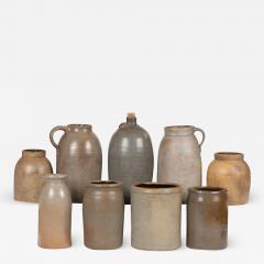 Nine Stoneware Bottles Jugs and Jars - 1937558