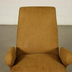 Nino Zoncada Pair Of Armchairs Nino Zoncada Foam Fabric Metal Italy 1950s - 2056763