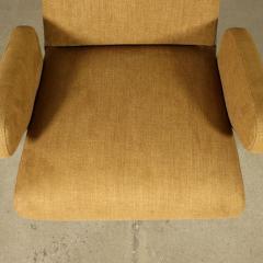Nino Zoncada Pair Of Armchairs Nino Zoncada Foam Fabric Metal Italy 1950s - 2056767