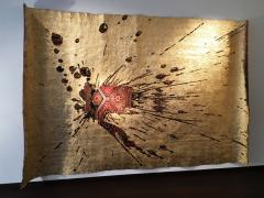 No mi Kiss GOLDEN SPLASH wall piece tapestry - 859795