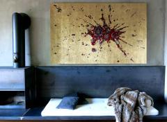 No mi Kiss GOLDEN SPLASH wall piece tapestry - 859797