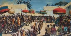 Noel Sickles African Tribal Celebration Alex Haley Roots for Readers Digest - 1891621