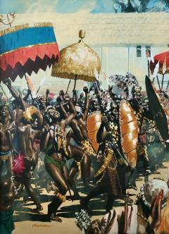 Noel Sickles African Tribal Celebration Alex Haley Roots for Readers Digest - 1891622